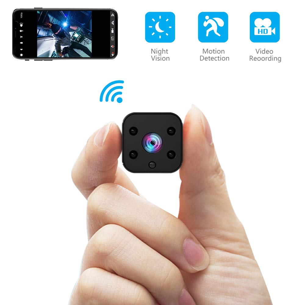 FULAO Mini Spy Camera WiFi Hidden Camera Wireless HD 1080P Indoor Home Small Spy Cam Security Cameras Nanny Cam with Motion Detection Night Vision for iPhone Android Phone iPad PC (spy Camera) by FULAO