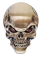More Care Skeleton Metall Emblem Badge Aufkleber 3D Auto Motorrad Auto Logo...