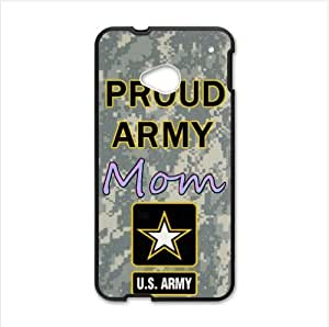 Best Custom Case ,Proud Army Mom Proud Army HTC One M7 (Laser Technology) Case, Cell Phone Cover