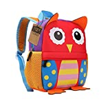Teamen Children's school backpack, animal design, for children 2-6 years old, owl