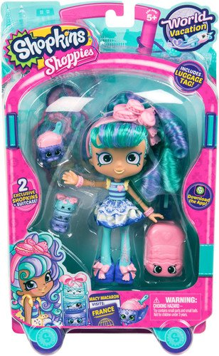 Shopkins World Vacation  Shoppies Doll - Macy Macaron