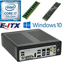 E-ITX ITX350 Asrock H270M-ITX-AC Intel Core i7-7700 (Kaby Lake) Mini-ITX System , 4GB DDR4, 240GB M.2 SSD, WiFi, Bluetooth, Window 10 Pro Installed & Configured by E-ITX