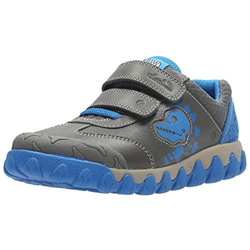 Clarks Tyrex Shine Inf - Zapatos de cordones de Piel para niña gris gris