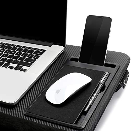 Laptop Lap Desk Tablewith Tablet Tray,Cell Phone Tray,Pen Tray,Built-in Laptop Stop Bar,Built-in Mouse Pad, Pillow Foam Cushion, Soft Wrist Rest Fits Laptop Up to 17.3 Inch by ELKGEAR (Image #2)