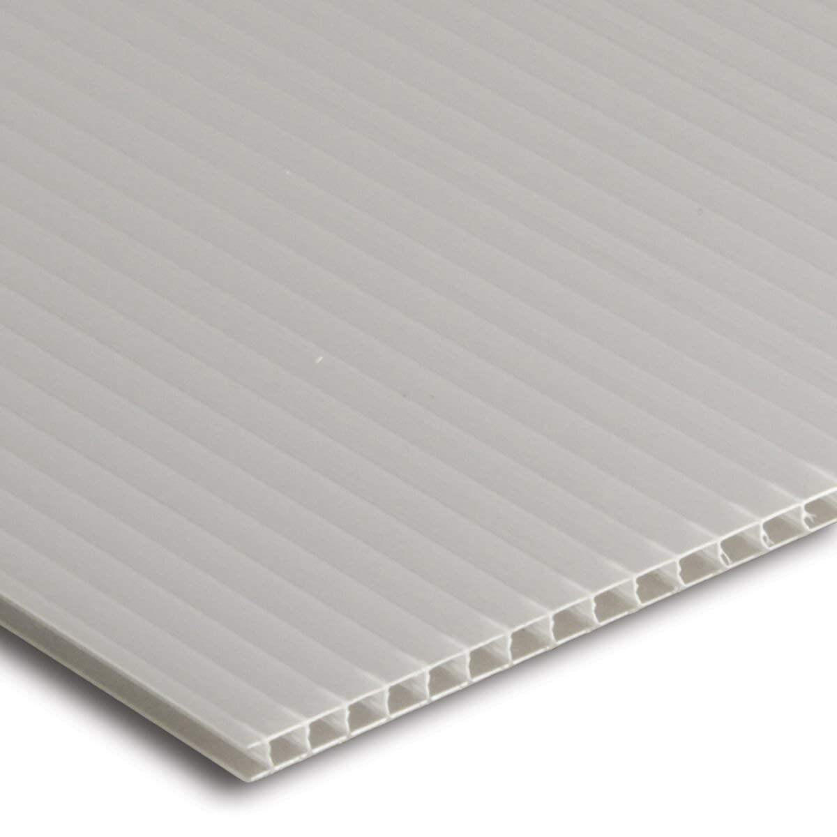 White Fluted Correx Outdoor Plastic Board. 3 Sheets Sized to A1 (841x594mm) Vesey Gallery