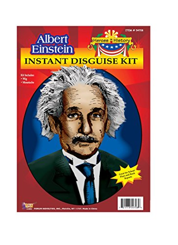 Endless Road 54708/207 Albert Einstein Wig & Mustache Kit School Project Kit Unisex-Child