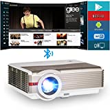 EUG LCD Smart Bluetooth Wireless Projector 1280x800 4200 Lumen WiFi Beamer Android Outdoor Movie Projectors Home Theater for Fire Stick Laptop DVD Wii Xbox Ruku Smartphone