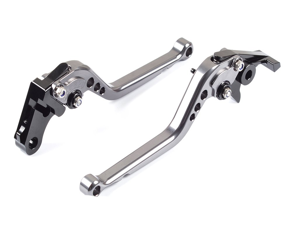 Tencasi Titanium CNC Long Adjustable Brake Clutch Lever for TRIUMPH Bonneville T100/SE/Black 2006-2015, Scrambler 2006-2016, TIGER 1050/Sport 2007-2016