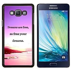 """Be-Star Único Patrón Plástico Duro Fundas Cover Cubre Hard Case Cover Para Samsung Galaxy A7 / SM-A700 ( Los sueños del océano Purple Sunset Pink"""" )"""