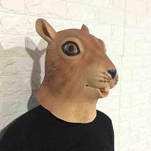 WTNL Máscara de Ardilla de Halloween Juego de Cabeza de Animal ...