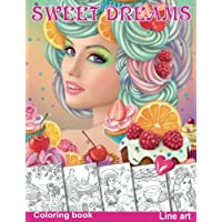 Sweet Dreams. Coloring Book. Line Art: Coloring Book for Adults