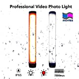 Sunblesa Camera Cmping Tent Lantern 7800mah Phone Charger IP65 Waterproof 7 modes Brightness Lightweight LED Torch Flashlight(18650 Battery Included LED Video Light Wand Photo Lighting Kit (Large)