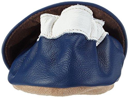 HOBEA-Germany Krabbelschuhe Herz - Pantuflas para bebés Azul (blau)