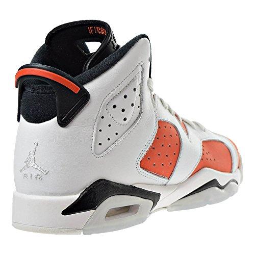 c16d98fcf06210 Jordan Air 6 Retro Big Kids  Basketball Shoes Summit White Team Orange-Black