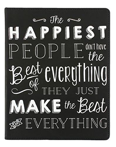 Eccolo World Traveler 8 x 10 Desk Journal, Happiest People (D505R)