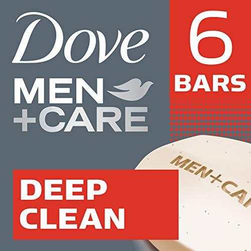 Dove Men+Care Body and Face Bar, Deep Clean 4 oz, 6 Bar (Dove Men Care Body And Face Bar)