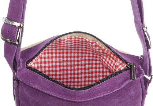 Diavolezza CAROL B101 Damen Schultertaschen 23x22x5 cm (B x H x T), Violett (Purple)