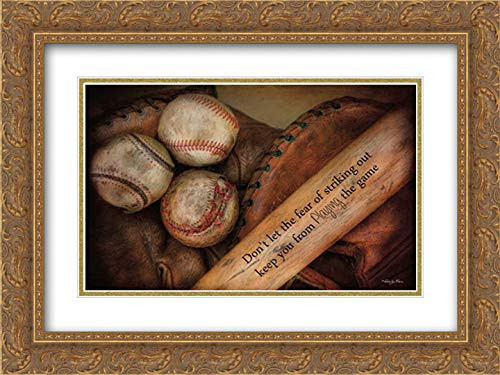 - Play Ball 40x28 Gold Ornate Frame and Double Matted Art Print by Vieira, Robin-Lee