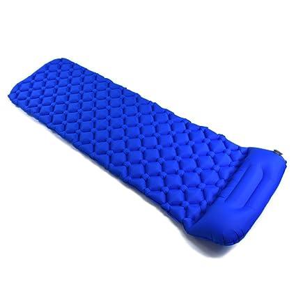 Colchoneta Inflable Para Dormir Con Almohada Y Diseño único De Hebilla Colchón Plegable De Aire Para