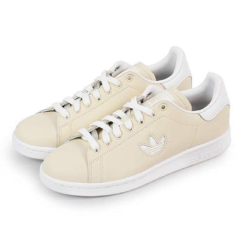adidas - Zapatillas de Cuero para Mujer Beige Beige/White: Amazon ...