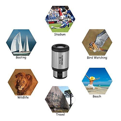 Lixada 18 Monocular Mini Compact Monocular Telescope High Definition Pocket Scope by Lixada