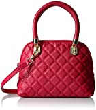 Cole Haan Benson Quilted Small Dome Satchel, Crimson