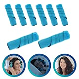 Best Flexible Foam and Sponge Hair Curlers - 8Pcs Nighttime Hair Curlers Rollers,Sleep Hair Rollers for All Kinds of Hairstyles (6 Inch)