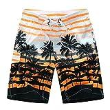 Plus Size Swimwear Men Swim Shorts Swimming Trunks Bermuda Surf Beach Short Sport Homme Swimsuit 5XL 6XL,1525 Orange,5XL