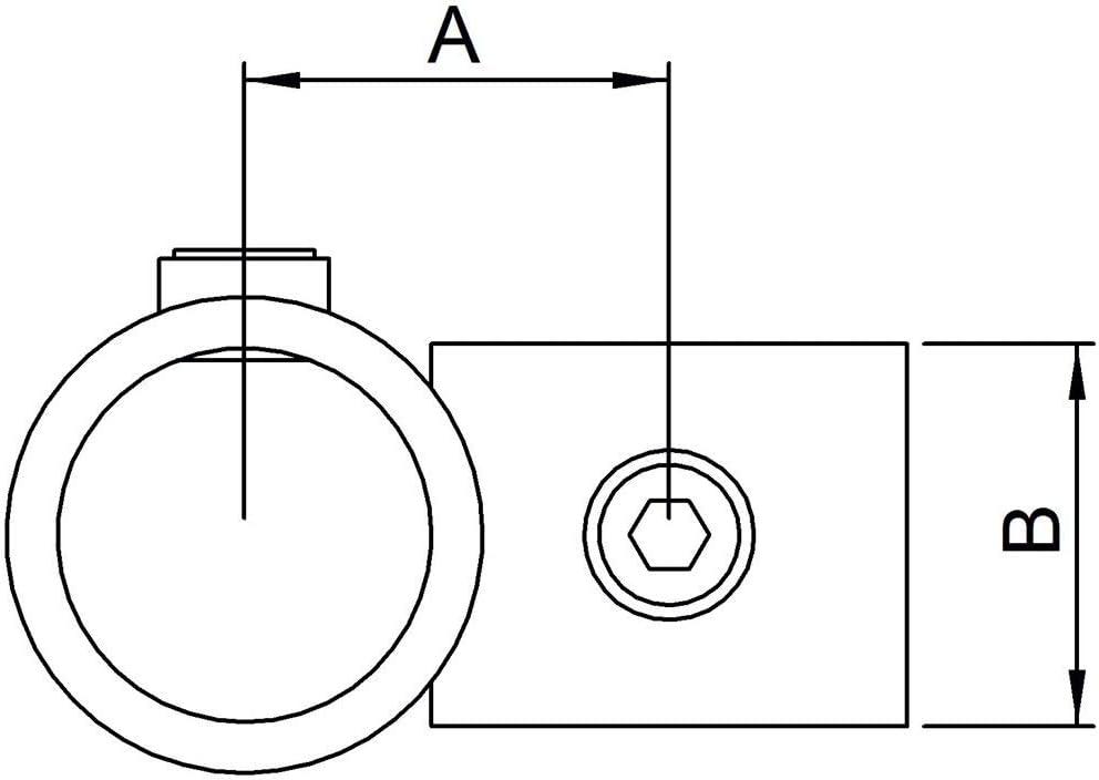 inkl 60,3//42,4 mm feuerverzinkt Fenau /Ø Schrauben Temperguss galvanisiert /Über-Kreuzverbinder//Rohrverbinder Reduzier-Kreuzst/ück