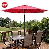 Cheap GotHobby 9ft Outdoor Patio Umbrella Aluminum w/ Tilt Crank – Red