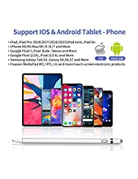 Chilison   Lápiz capacitivo para pantalla táctil, con punta ultrafina de 0.059 in, compatible con iPad Pro, Mini, iPhone, Samsung, Lenovo y mucho más