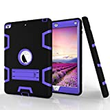 "PC Hardware : New iPad 9.7"" (2017) Case, Beimu 3in1 Combo Hybrid Heavy Duty Full-body Armor Defender Shock-Absorption High Impact Resistant PC+Silicone Case with Built-in Kickstand for Apple New iPad 2017 Released"