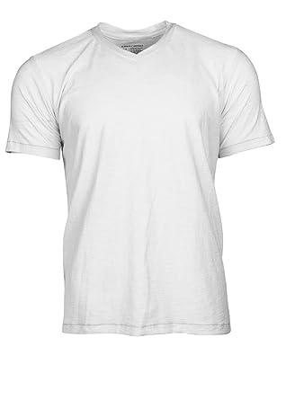 b10b959fb Amazon.com: Alberto Cardinali Men's Slub Cotton V-Neck T-Shirt – Relaxed  Lightweight Design: Clothing