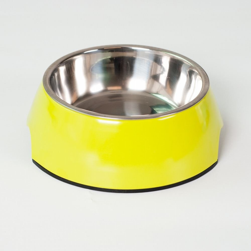 WU-pet Supplies The Dog Bowl Dog Bowl cat Food Bowls of Rice Basin Water Basin Single Bowl Stainless Steel Teddy Large Dog Dog Supplies pet cat Bowl,M-8