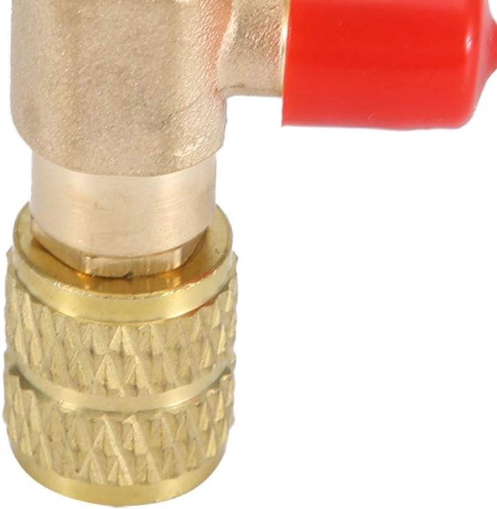 V/álvula de seguridad l/íquida-V/álvula de aire acondicionado R410A R22 Refrigerante de aire acondicionado Adaptador de seguridad de 1//42 piezas