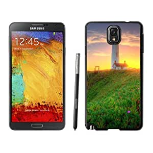 NEW Unique Custom Designed For Case HTC One M7 Cover Phone Case With Lighthouse Green Coast Sunrise_Black Phone Case