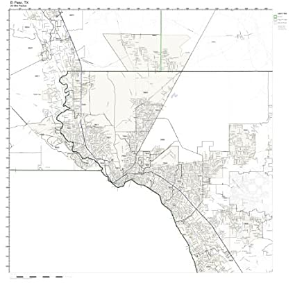 Amazon Com El Paso Tx Zip Code Map Not Laminated Home Kitchen