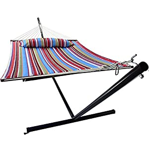Sorbus Spreader bar Hammock with 12 ft Hammock Stand