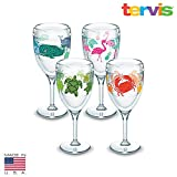 Tervis Wine Glass 4 pack Flamingo, whale, Turle, Crab made in USA