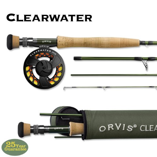 Orvis Clearwater 908-4 Fly Rod Outfit (Fly Striper Saltwater Reel)