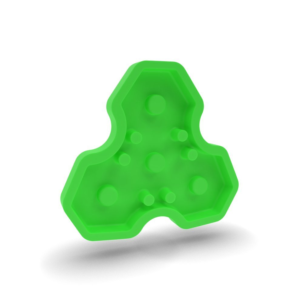 Fidget Spinner Candy Mold. The World's First and Original BPA Free Candy Mold Fidget Spinner for Kids and Adults. Non-Stick Hard Candy Silicone Mold Makes Candy Melts You Can Spin!