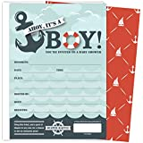 Koko Paper Co It's A Boy Nautical Baby Shower Invitations...