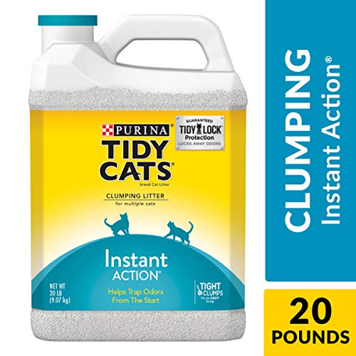 Purina Tidy Cats Clumping Cat Litter, Instant Action Multi Cat Litter - (2) 20 lb. Jugs (Arm And Hammer Multi Cat Litter Ingredients)