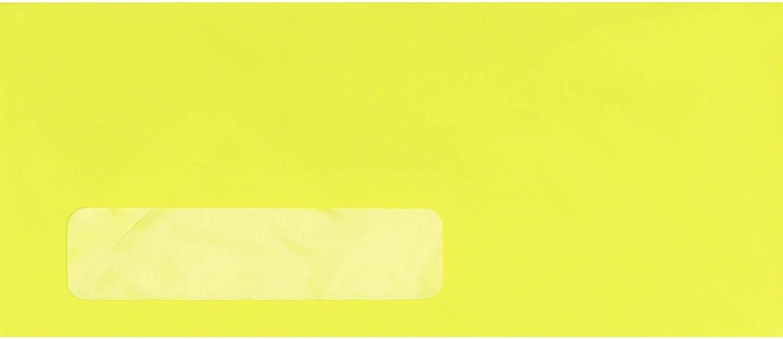 #10 Window Envelopes (4 1/8 x 9 1/2) - Electric Yellow (250 Qty.)
