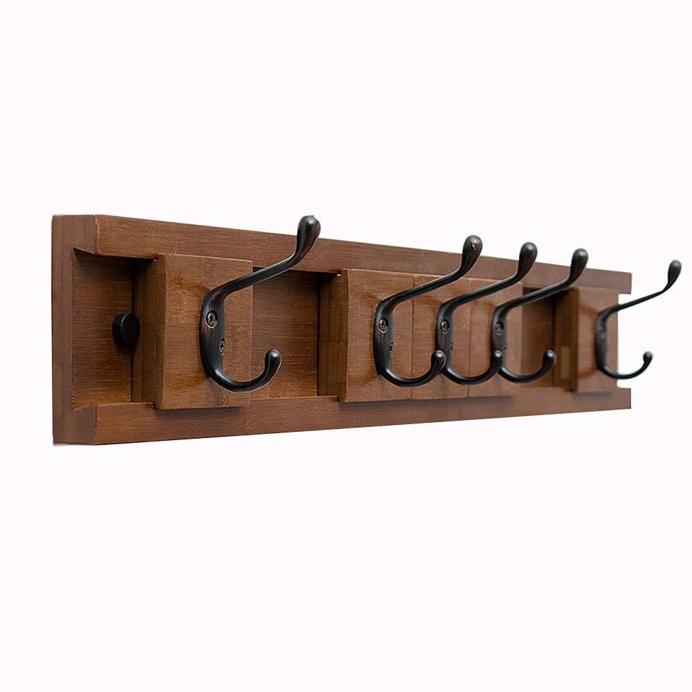 B JIAYING Coat Racks Coat Rack Wooden 5 Hooks Entryway Hanging Wall Coat Rack Wall-Mounted Creative Moving Coat Hook Save Space Multifunction (color   B)