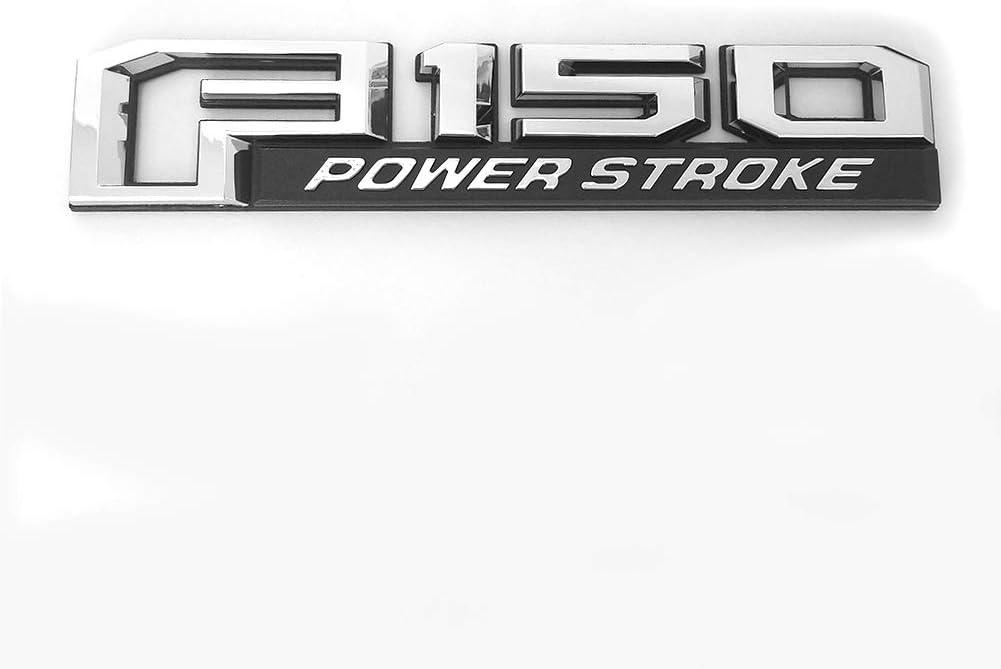 3x OEM Black F150 Powerstroke Emblems Side Fender F150 Power Stroke Tailgate Badges 3D Logo Replacement for F-150
