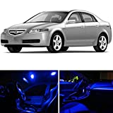 LEDpartsNow Acura TL 2004-2008 Blue Premium LED Interior Lights Package Kit (13 Pieces)