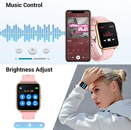 CanMixs Smart Watch for Android Phones iOS Waterproof Smart Watches for Women Men Sports Digital Watch Fitness Tracker Heart Rate Blood Oxygen Sleep Monitor Touch Screen Compatible Samsung iPhone 51JuFUG0WpL