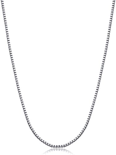 0.8mm Thick 20 Inch 16 18 Solid 925 Sterling Silver Box Chain Necklace 14