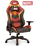 Licensed Marvel Premium Gaming Racing Chair Executive Office Desk Task Computer Home Chair : High Back 180° Reclining Headrest Ergonomic Lumbar Back Shoulder Support, Neo Chair (Iron Man, Red)